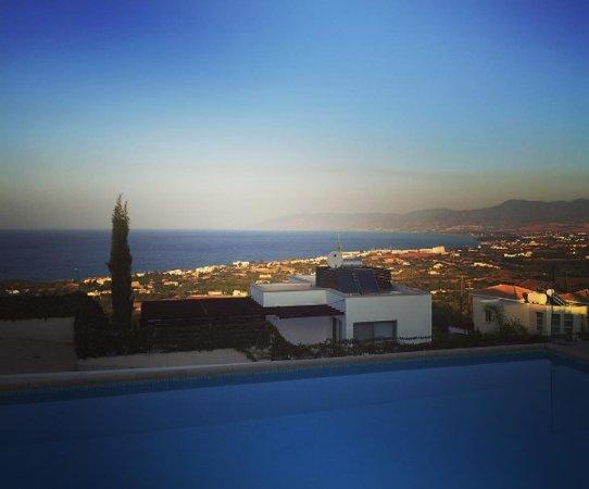 Neo Chorion, Cyprus: Villa Genevieve blue skies