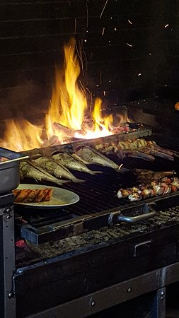Evvia: All grilled items are cooked over wood