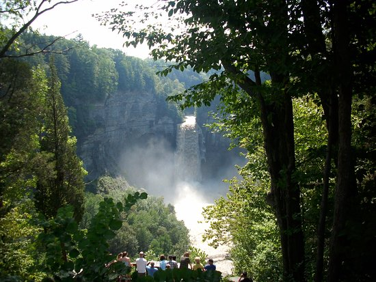 Trumansburg, NY: Taughannock Falls..just down the road from Halsey House B&B
