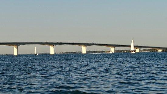 Sunshine Sky Bridge Between St Petersburg And Sarasota Florida