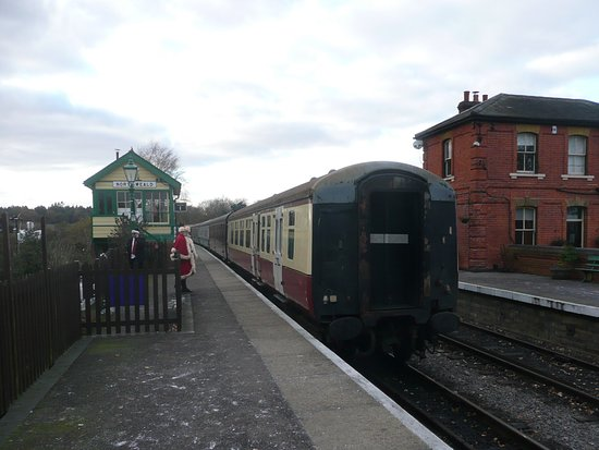 Chipping Ongar, UK: A view of the station facilities.