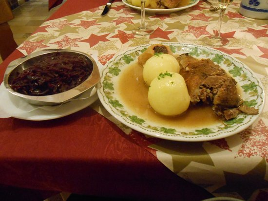 Burgbernheim, Germany: Goose dinner