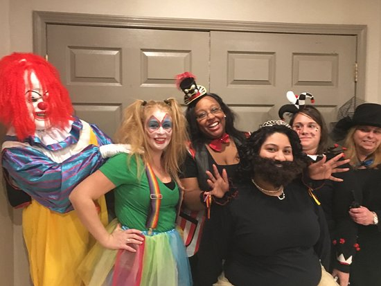 Saddle River, NJ: Staff dresses up for Halloween Haunted House