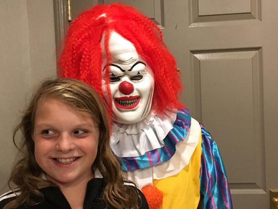Saddle River, NJ: Our Niece with the scary clown