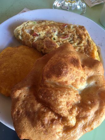 Central Park: Omelet with fried bread