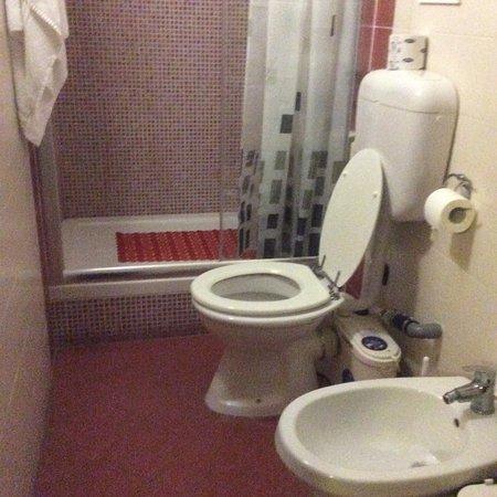 Il bagno. Dietro il WC, il sanitrit, piuttosto rumoroso - Foto di ...