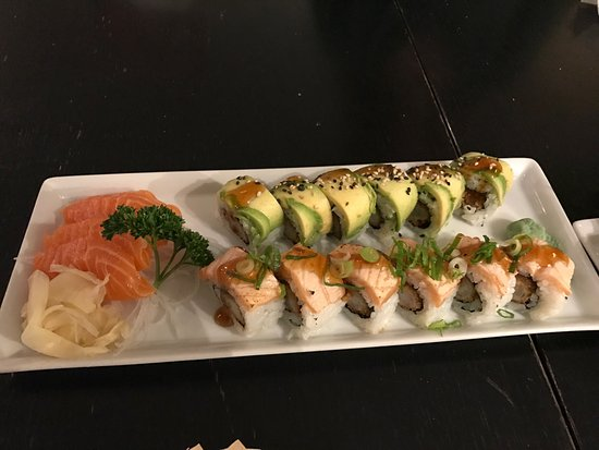 Kongens Lyngby, Denemarken: Aftenmenu med lækket sushi ad libitum