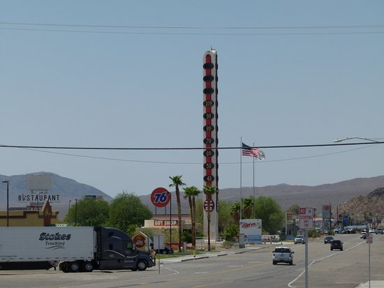World's Tallest Thermometer: Baker