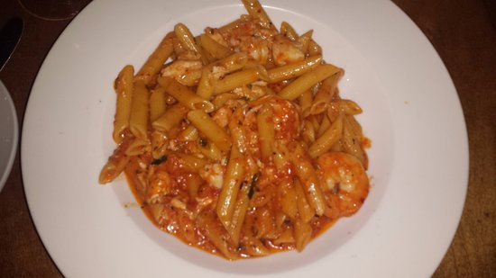 Harahan, LA: penne with crab and shrimp