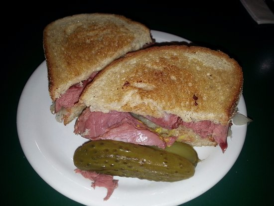 Hanover, Canada : Reuben on Rye with Dill pickle