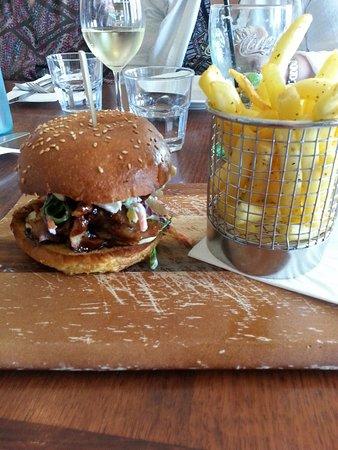 Glenelg, Australia: pulled pork burger