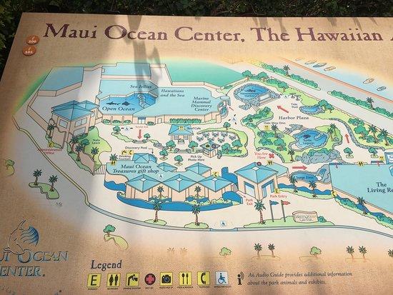 Map of Maui Ocean Center Picture of Maui Ocean Center Wailuku