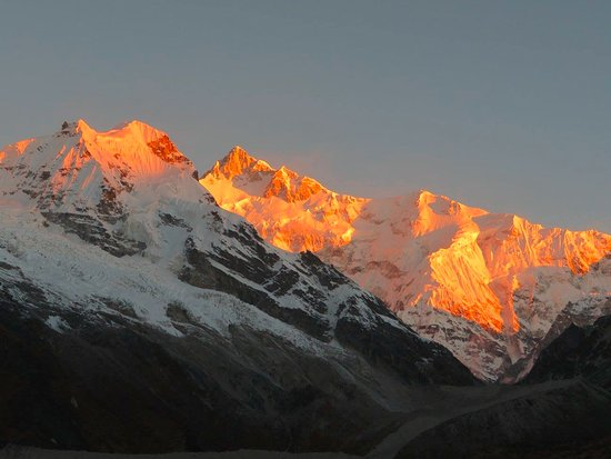 Mountain Tours, Treks & Travels: Sunrise on Kanchenjunga, taken from Goecha La