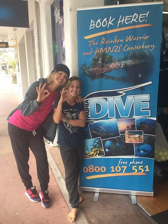 Paihia, New Zealand: Eleanor with Faye, her instructor
