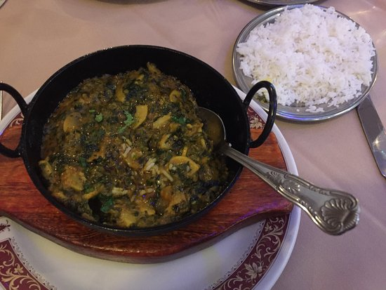 Oldbury, UK: Mushroom sag balti. Not on the menu but just ask.