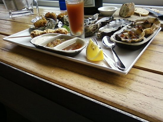 Bruny Island, Αυστραλία: tasting tray of oysters