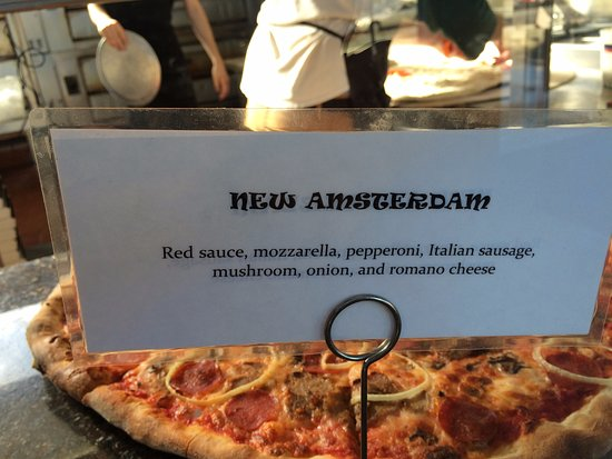 Paul's Live From New York Pizza: The New Amsterdam: My 4 basic food groups favorite.