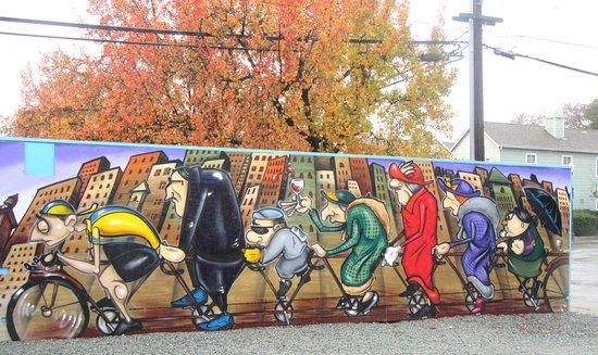 Mural, Pop Up Park, Morgan Hill, Ca