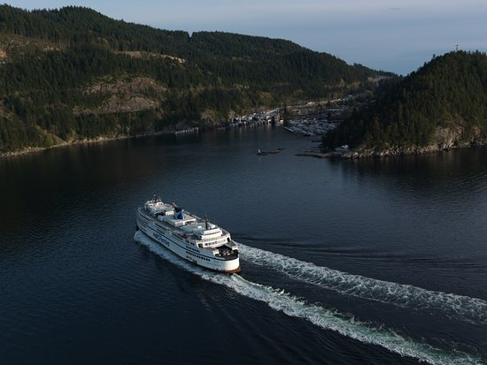 Nanaimo, Canada : Queen of Capilano, arriving at Horseshoe Bay from Departure Bay