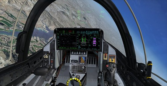La Mirada, CA: Virtual Cockpit of the F-35