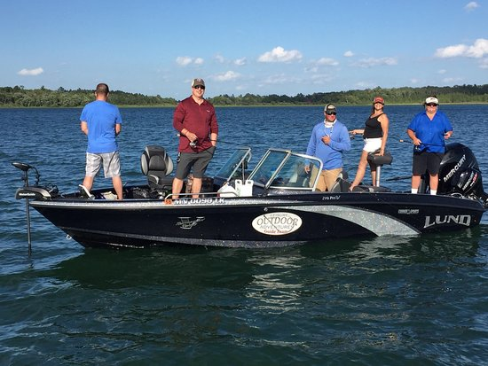 Walker, MN: One of our guide boats in action.  We run some of the best equipment on the market!