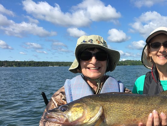 Walker, MN: BIG Walleyes are fun to catch!
