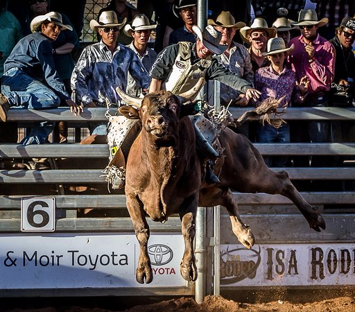 Mount Isa Rodeo Bullriding Finals on the Sunday afternoon are a favourite