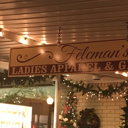 Located in the heart of Historic Downtown Ennis, Texas  Felcman's  Ladies Apparel & Unique Gifts