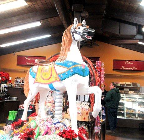 Carousel Horse at Bakery, Casa de Fruta, Hollister, CA