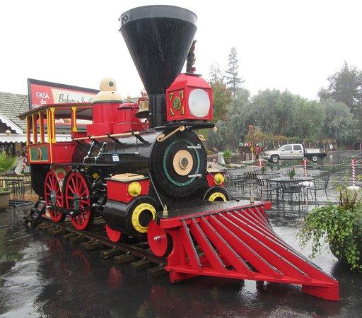 Train Engine, December 2016, Casa de Fruta, Hollister, CA