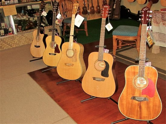 Kalaheo Music and Strings: New & Used Guitars, Steel and Nylon, Full size, Thin Models, Travel, 3/4 & 1/2 sizes.