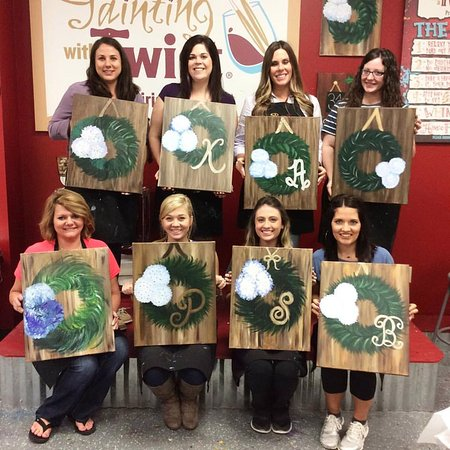 How Cute Are These Monogram Wreath Paintings Picture Of Painting