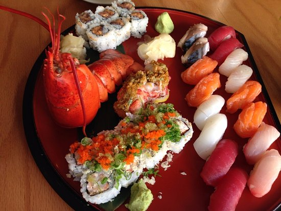 Sunnyside, NY: Sushi for two. Maine fresh lobster roll and sixteen pieces of sushi and spicy tuna roll.