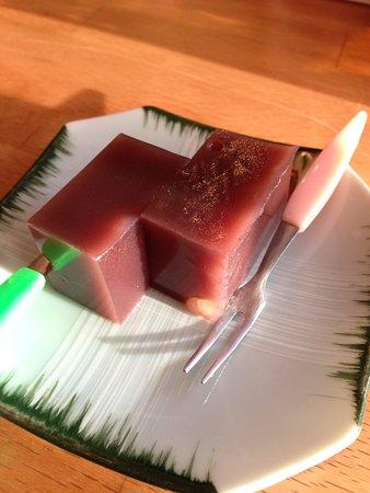 Sunnyside, NY: Mizu yokan (Soft red beans jelly) is very mild.