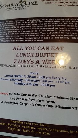 West Hartford, CT: Buffet Details