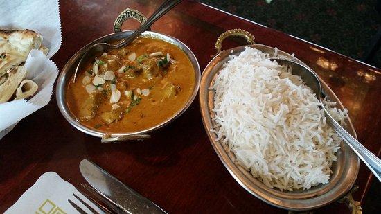 West Hartford, CT: Lamb Korma and White Rice