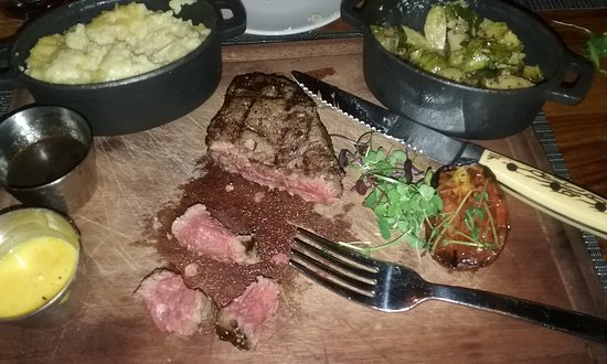 Florence, SC: Filet Mignon, mashed potatoes and brussle sprouts. Delicious!