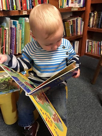 Prince Frederick, MD: My son checking out the children's section