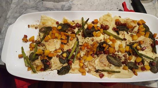 Farmington Hills, MI: Butternut Squash & Asiago cheese ravioli