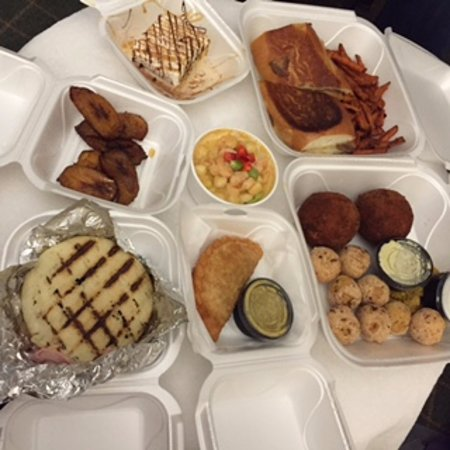 Overland Park, KS: Our takeout buffet spread from El Porton Cafe.