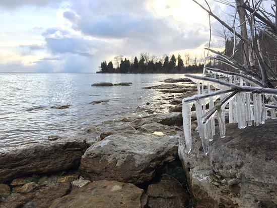 Ellison Bay, WI: Winter hiking!