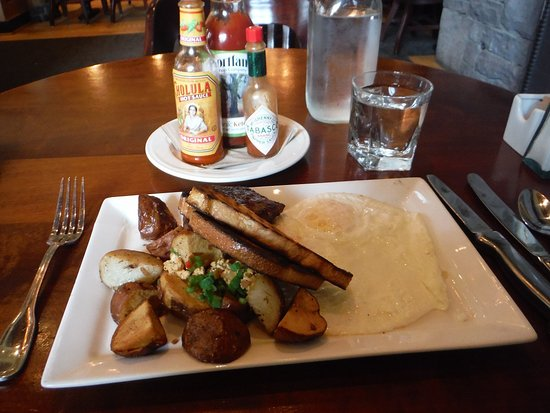 Vancouver, WA: Steak, eggs and potatoes for breakfast!