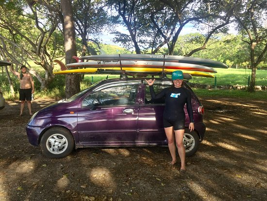 I took 3 surfing lessons in Playa Grande, and a paddle boarding snorkeling adventure in Brasilit