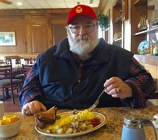 Superior, WI: I had the Philly steak omelet with fried potatoes, toast, and a cup of fruit.