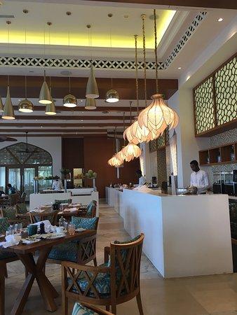 Hotel interiors and beach site
