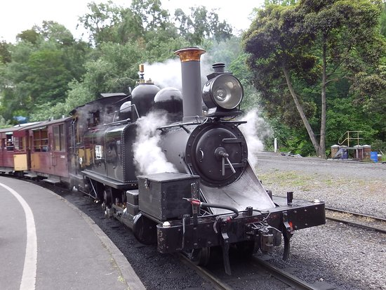 Belgrave, Australia: Puffing Billy Steam Engine Head