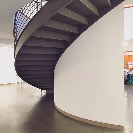I love the curve of this staircase at the MONA in La Conner, WA