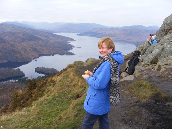 Callander, UK: Looking along Loch Katrine (to the west)