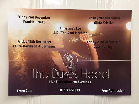 The Dukes Head: Live Entertainment evenings in December - Free Admission
