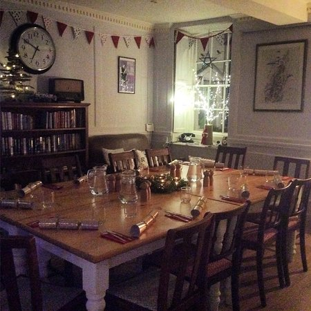 Sturminster Newton, UK: Table set for a festive birthday celebration.
